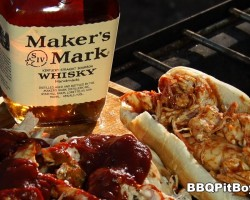 Maker's Mark Bourbon Pulled Chicken by the BBQ Pit Boys