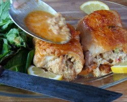 Shrimp & Crab Stuffed Fish with Lobster Gravy -Part Two