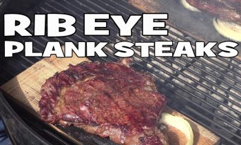 Rib Eye Plank Steaks by the BBQ Pit Boys