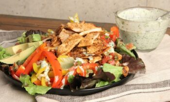 Chicken Fajita Salad with Creamy Cilantro Dressing | Ep. 1280